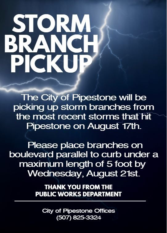 Storm Branch Pick up 8.20.19