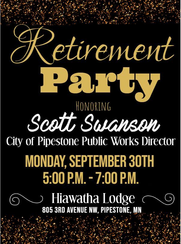 Scott Swanson Retirement Invite