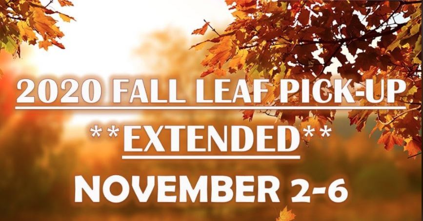 2020 Leaf Pickup days extended