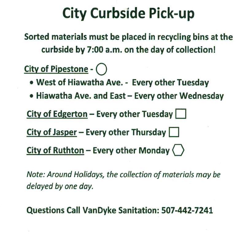 Recycle Curbside Pick-up
