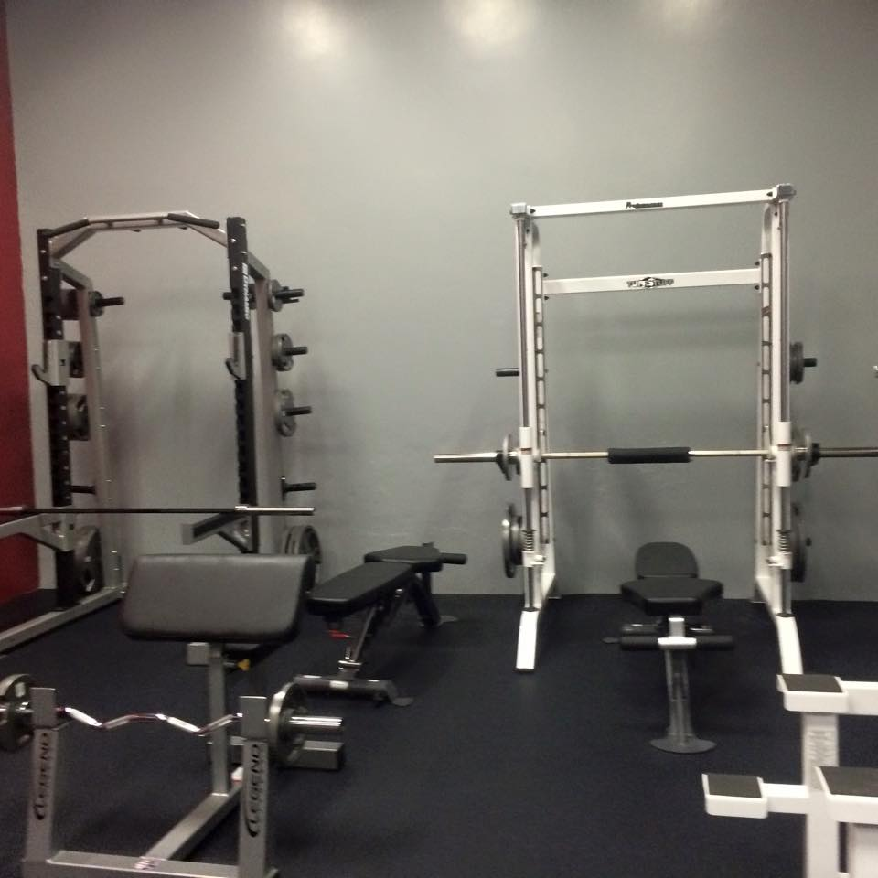 smith machine and half rack